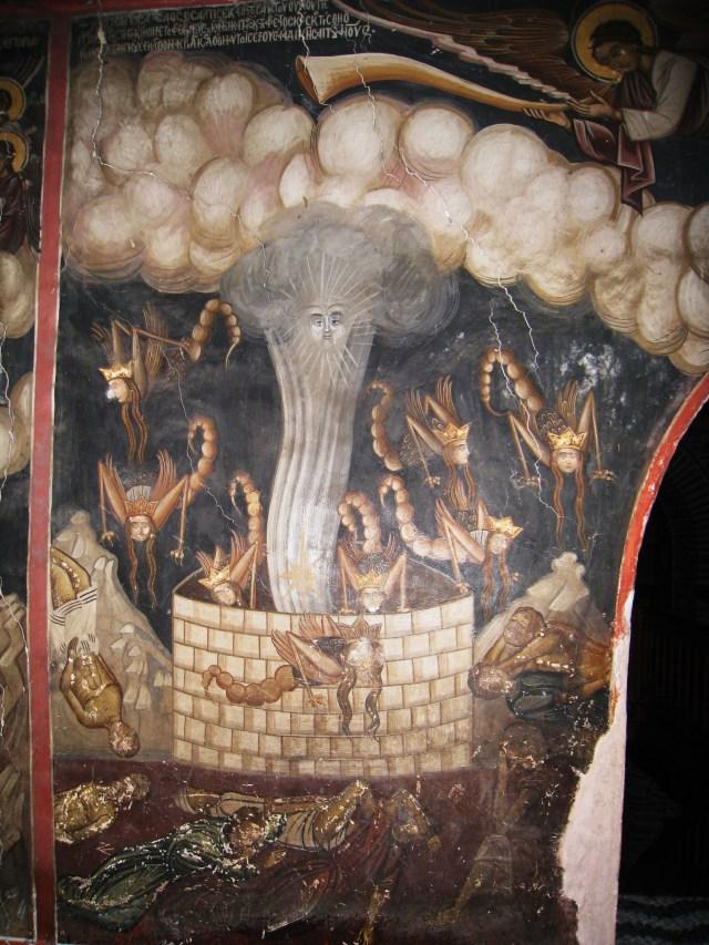 Фрески, илюстриращи Откровението на Йоан Богослов